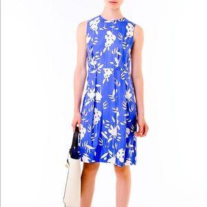 MARNI Blue Floral Print Cotton Dress